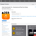 iTunes - Free App: Video Downloader Pro - Download and Play Free