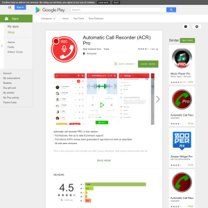 Free Automatic Call Recorder (ACR) Pro