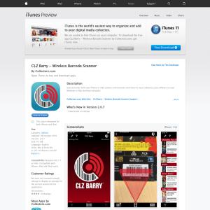 iTunes - Free CLZ Barry - Wireless Barcode Scanner