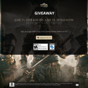 Free copy of For Honor Starter Edition on PC