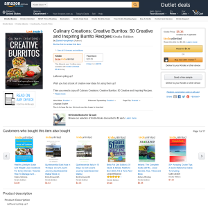 Free Culinary Creations; Creative Burritos: 50 Creative and Inspiring Burrito Recipes Kindle Edition