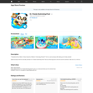 iTunes - Free Dr  Panda Swimming Pool - Freestuff com au