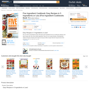 Free Five Ingredient Cookbook: Easy Recipes in 5 Ingredients or Less (Five Ingredient Cookbooks Book 1) Kindle Edition