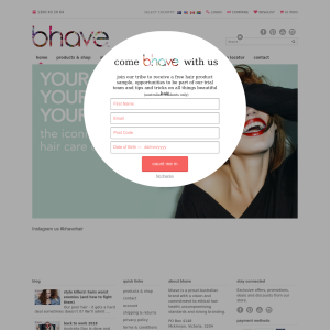 Free Hair Product from bhave