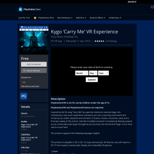 Free Kygo 'Carry Me' VR Experience
