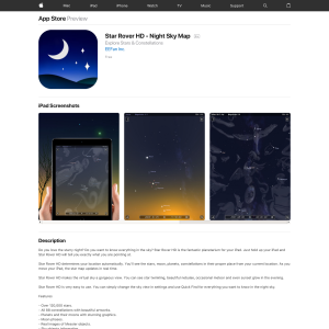 iTunes - Free Star Rover HD - Night Sky Map - Freestuff com au